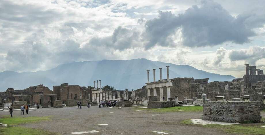 This piazza in Pompeii was the heart of the city, before Mount Vesuvius erupted in A.D. 79. Photo: Joshua Trudell / For The Express-News