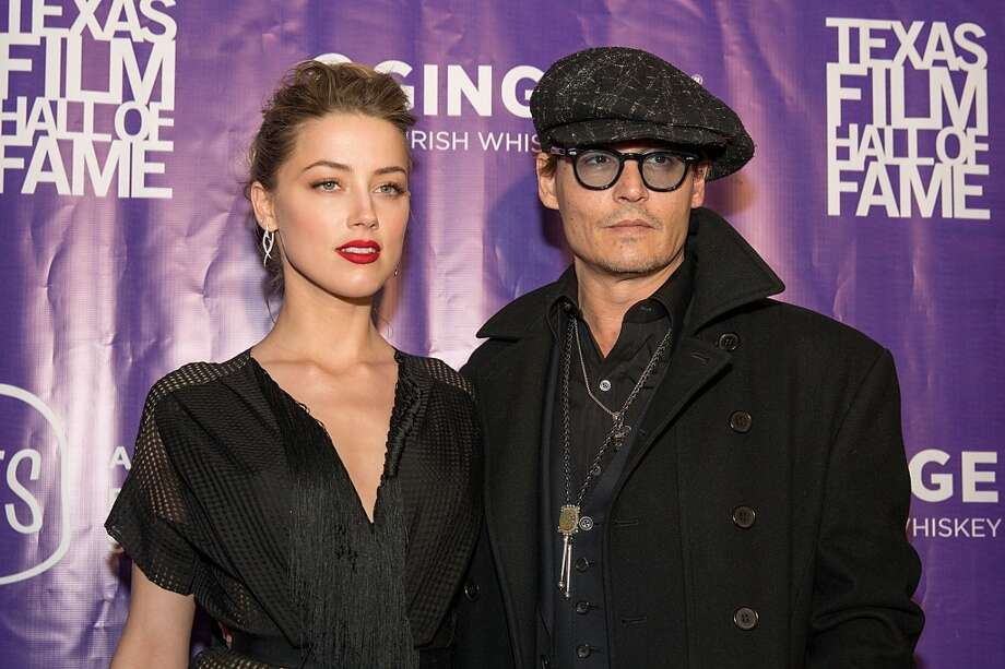 "Johnny Depp and Amber Heard (Age difference: 23 years) When she was born in 1986, he played the role of Lerner in the Vietnam movie ""Platoon."" Photo: Rick Kern, WireImage"