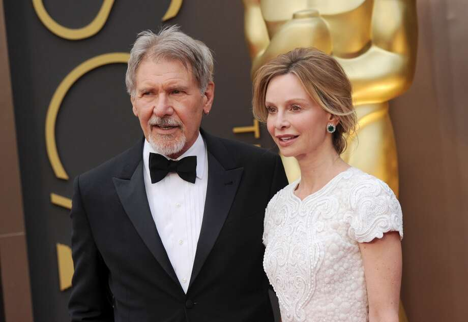 Harrison Ford and Calista Flockhart (Age difference: 22 years) When she was born in 1964, he was on his way to Hollywood to try to break into the film industry. Photo: Axelle/Bauer-Griffin, FilmMagic