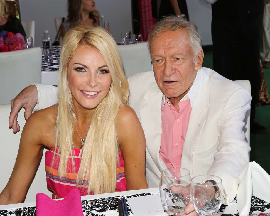 Hugh Hefner and Crystal Harris(Age difference:  60 years) When she was born in 1986, he had already had a stroke and was on the Hollywood Walk of Fame. Photo: Paul Archuleta, FilmMagic