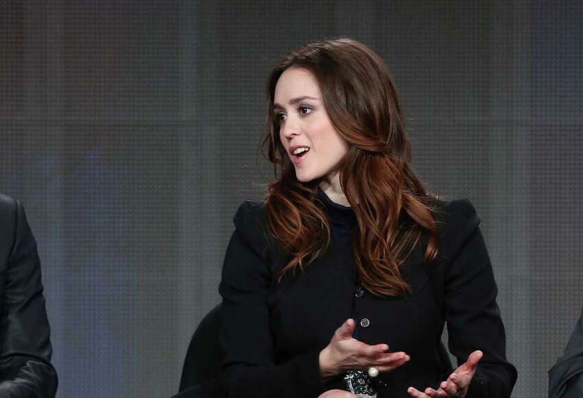 PASADENA, CA - JANUARY 11: Actress Heather Lind speaks onstage during the 'AMC - Turn' panel discussion at the AMC/Sundance portion of the 2014 Winter Television Critics Association tour at the Langham Hotel on January 11, 2014 in Pasadena, California. (Photo by Frederick M. Brown/Getty Images)