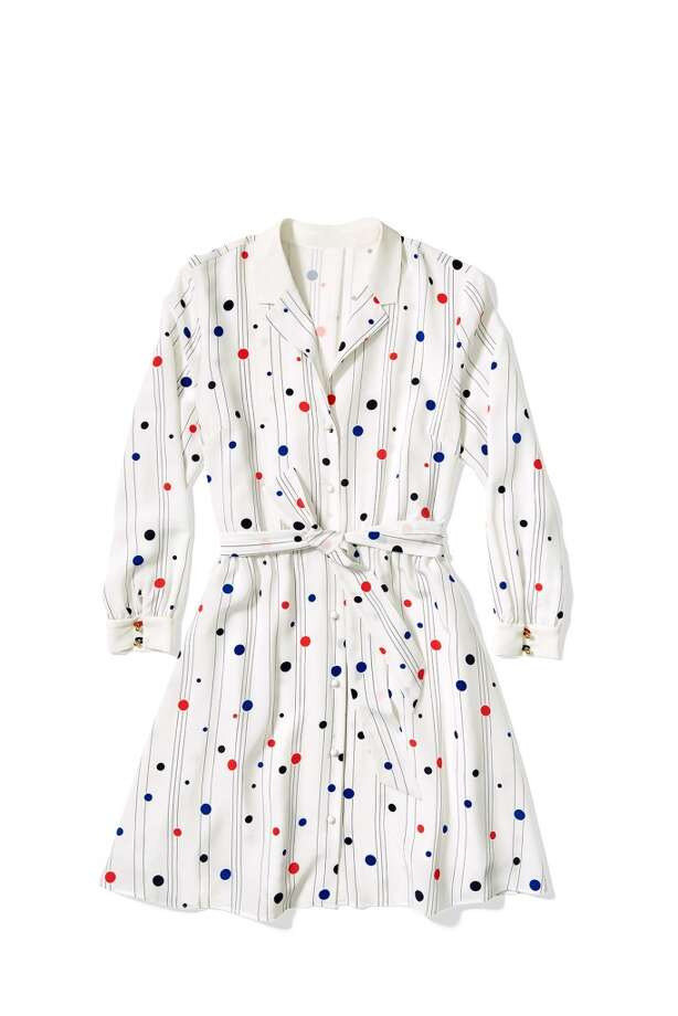 Printed blouse dress, $169,50