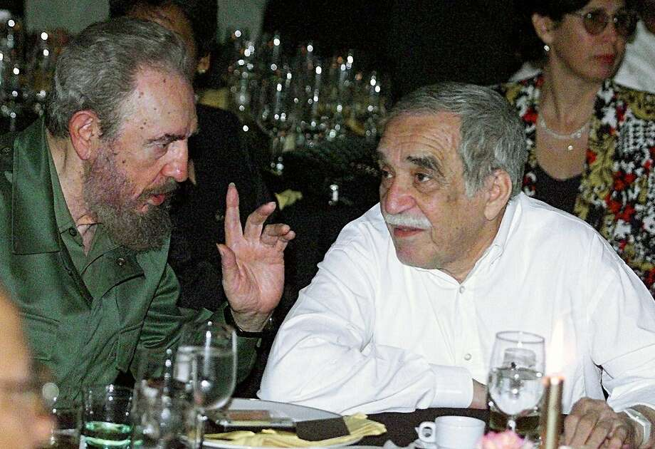 "Cuban President Fidel Castro (L) talks with the Colombian Nobel Laureate of Literature, Gabriel Garcia Marquez, during a dinner at the closing of the Cuban Cigars Festival in Havana, Cuba, on March 4, 2000. Colombia's Nobel-winning novelist Gabriel Garcia Marquez died on April 17, 2014 in Mexico City at the age of 87, Mexican and Colombian media reported. Garcia Marquez, the author of ""One Hundred Years of Solitude,"" passed away at his home with his wife and two sons by his side, Mexico's Televisa anchor Joaquin Lopez-Doriga said on Twitter, echoing reports in Mexican and Colombian newspapers. Photo: Adalberto Roque, AFP/Getty Images"