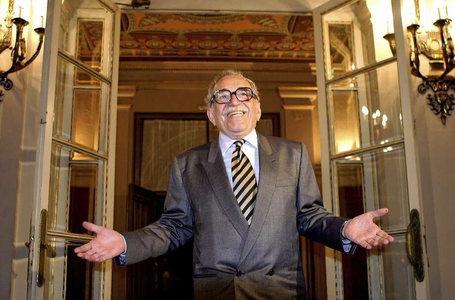 "Colombian Nobel Prize laureate Gabriel Garcia Marquez gestures upon his arrival at Diagonal Palace in Barcelona in this April 28, 2005 file photo. Garcia Marquez, the Colombian author whose beguiling stories of love and longing brought Latin America to life for millions of readers and put magical realism on the literary map, died on April 17, 2014. He was 87. Known affectionately to friends and fans as ""Gabo"", he is arguably Latin America's best-known author and his books have sold in the tens of millions. Photo: Albert Gea, Reuters"