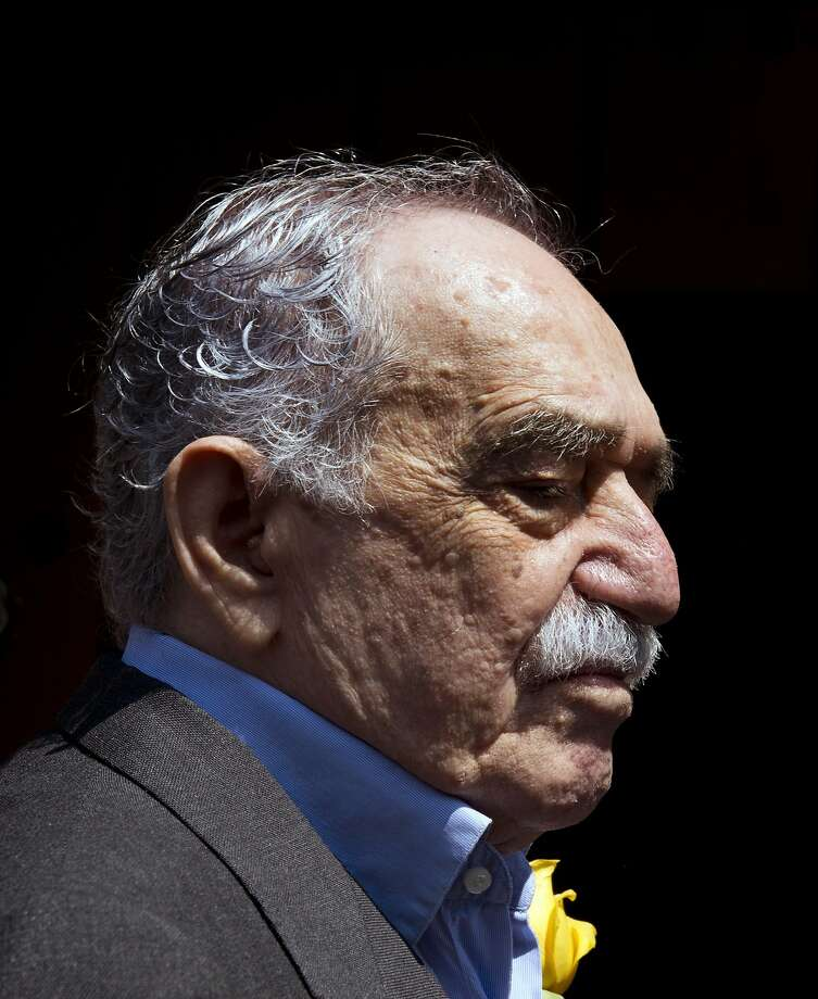 Nobel Literature prize-winning writer and journalist, Colombian Gabriel Garcia Marquez, gestures while coming out from his house to meet the press during his 87th birthday, in Mexico City, on March 6, 2014. Colombia's Nobel-winning novelist Gabriel Garcia Marquez died on April 17, 2014 in Mexico City at the age of 87, Mexican and Colombian media reported. Photo: Yuri Cortez, AFP/Getty Images