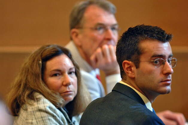 IIn this July 10, 2006, file photo, Christopher Porco, right, and his attorneys Terence Kindlon, left, and Laurie Shanks, center, are shown during his trial in the Orange County Courthouse in Goshen, N.Y. (/Philip Kamrass/Times Union archive) Photo: Philip Kamrass / POOL AP