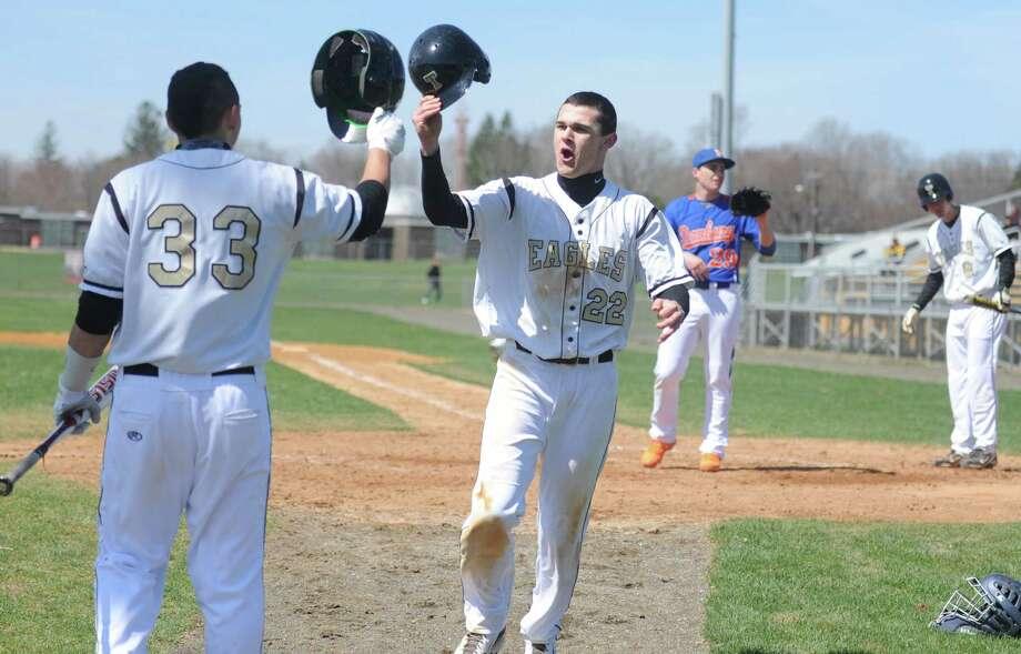 Trumbull baseball versus Danbury Thursday, April 17, 2014, at Trumbull High in Trumbull, Conn. Photo: Autumn Driscoll / Connecticut Post