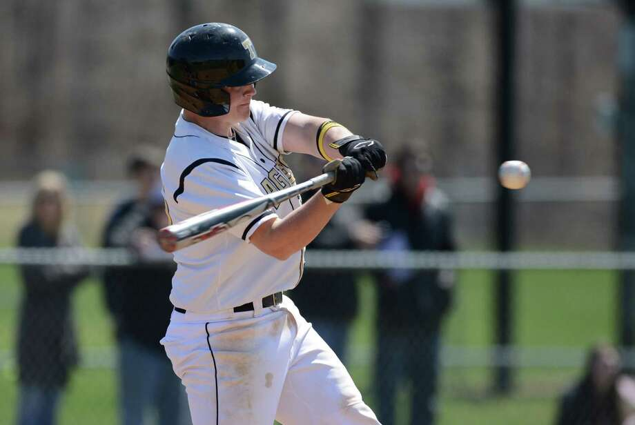 Trumbull baseball versus Danbury Thursday, April 17, 2014, at Trumbull High in Trumbull, Conn. Photo: Autumn Driscoll / Connecticut Post