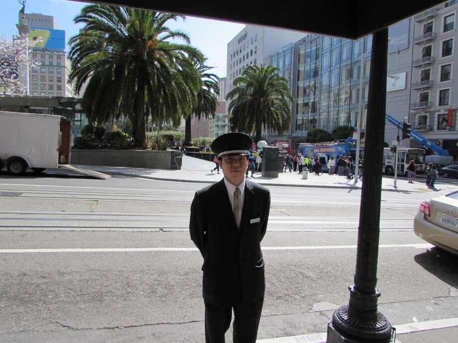 Union Square, April 13,  2014; Benny,  in perfect uniform Photo: Will Hearst