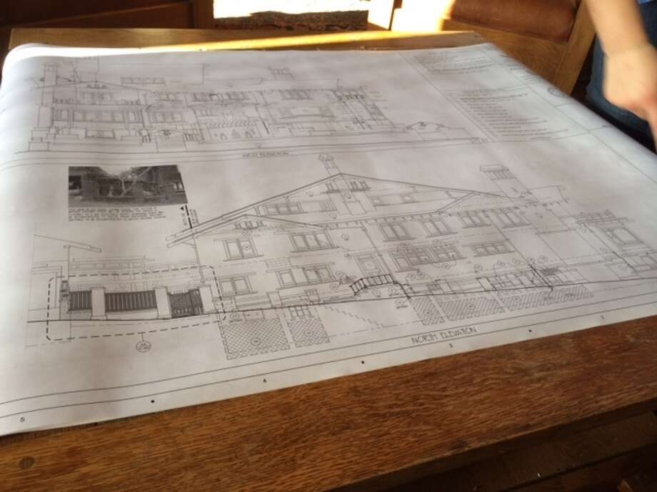 Plans for the Thorsen Restoration Project, as drawn by architecture students at UC Berkeley. The Chronicle/Sam Whiting