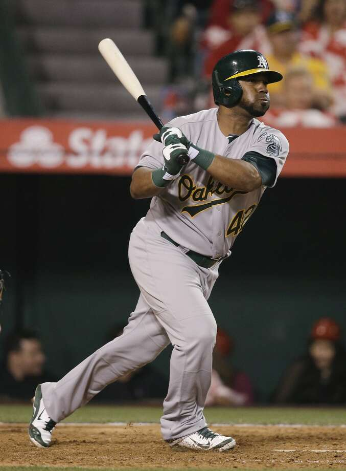 Alberto Callaspo, acquired by the A's from the Angels last season, is hitting .357 with a homer and six RBIs this year. Photo: Jae C. Hong, Associated Press