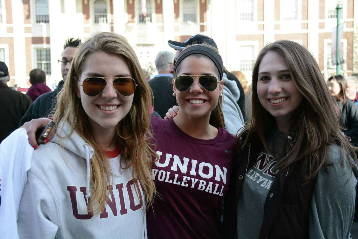 Were you Seen at the parade celebrating the Union College hockey team's NCAA national championship on Thursday, April 17, 2014, in Schenectady?