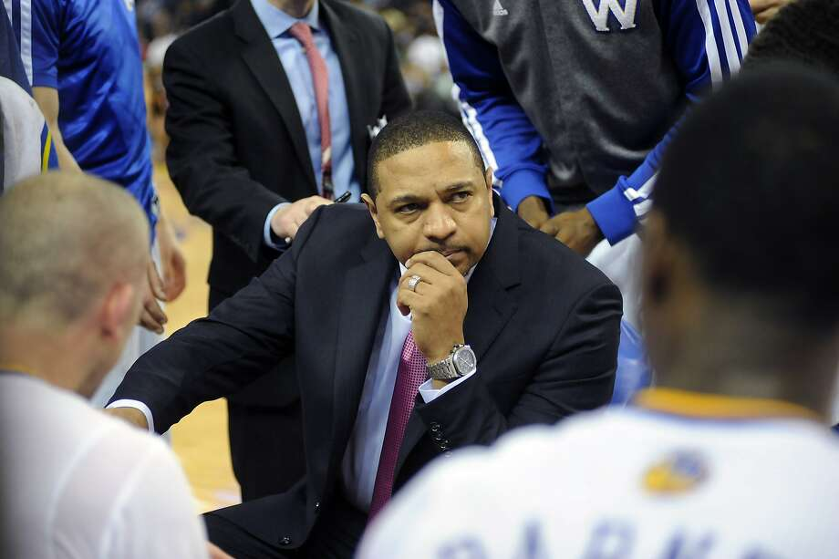 "Some would argue: ""If Mark Jackson is such a great coach, how come he never draws up plays during timeouts?"" He has drawn up a special, intangible magic. Photo: Michael Short, Special To The Chronicle"
