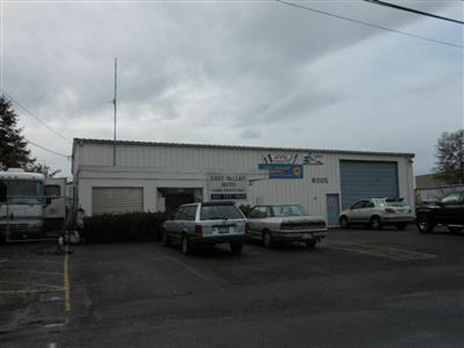 Mark Bryant's auto shop, pictured in a King County Assessor's Office photo.