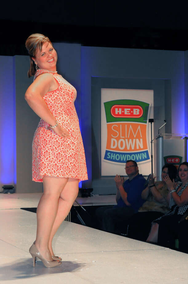 Ashley Trimble of Belton was one of the two grand prize winners of the 2014 H-E-B Slim Down Showdown. Trimble showed off her new body at the competition's grand finale at the Convention Center on Saturday, April 12, 2014. Photo: COURTESY, COURTESY THE DEBERRY GROUP