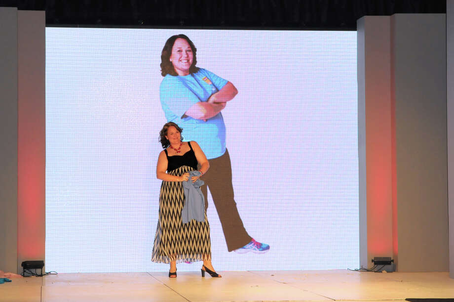 Marie Pechacek of Laguna Vista was one of the two grand prize winners of the 2014 H-E-B Slim Down Showdown. Pechacek showed off her new body at the competition's grand finale at the Convention Center on Saturday, April 12, 2014. Photo: COURTESY, COURTESY THE DEBERRY GROUP