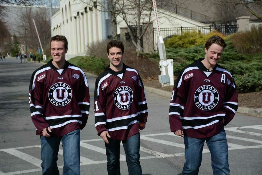 Were you Seen at the parade celebrating the Union College hockey team's NCAA national championship on Thursday, April 17, 2014, in Schenectady? Photo: Trevor R. Martin