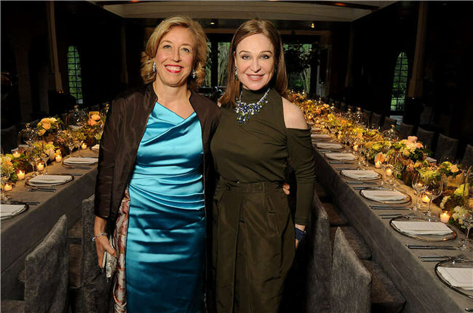 Veronica Bulgari, left, and hostess Becca Cason Thrash Photo: Dave Rossman, For The Chronicle