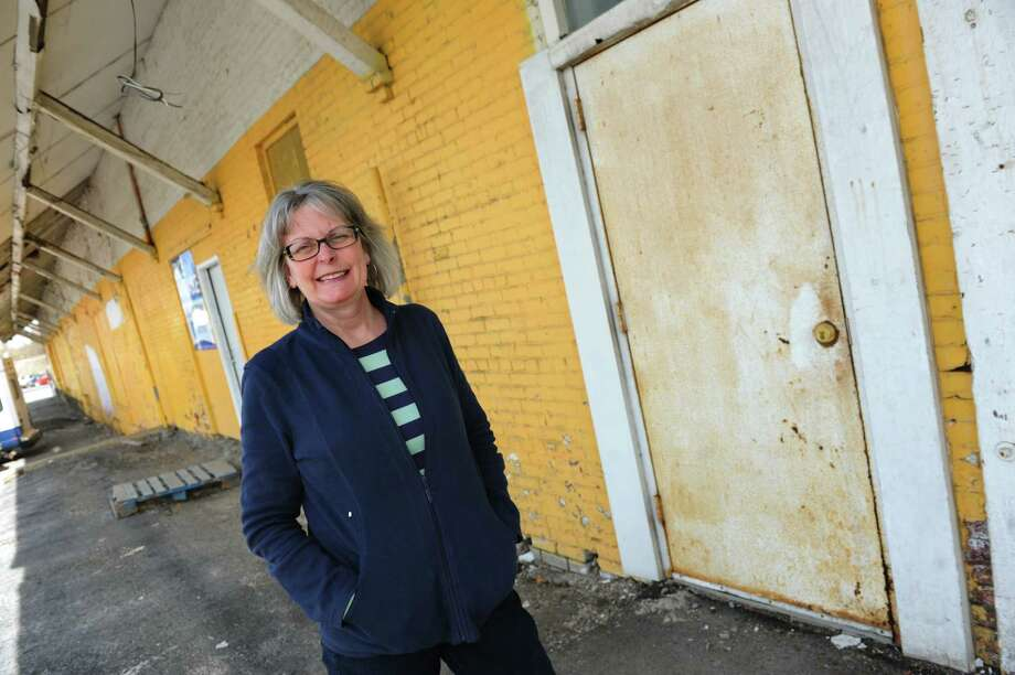 Board president Kat Wolfram at the future Electric City Food Co-op on Thursday, April 17, 2014, in Schenectady, N.Y. (Cindy Schultz / Times Union) Photo: Cindy Schultz / 00026545A