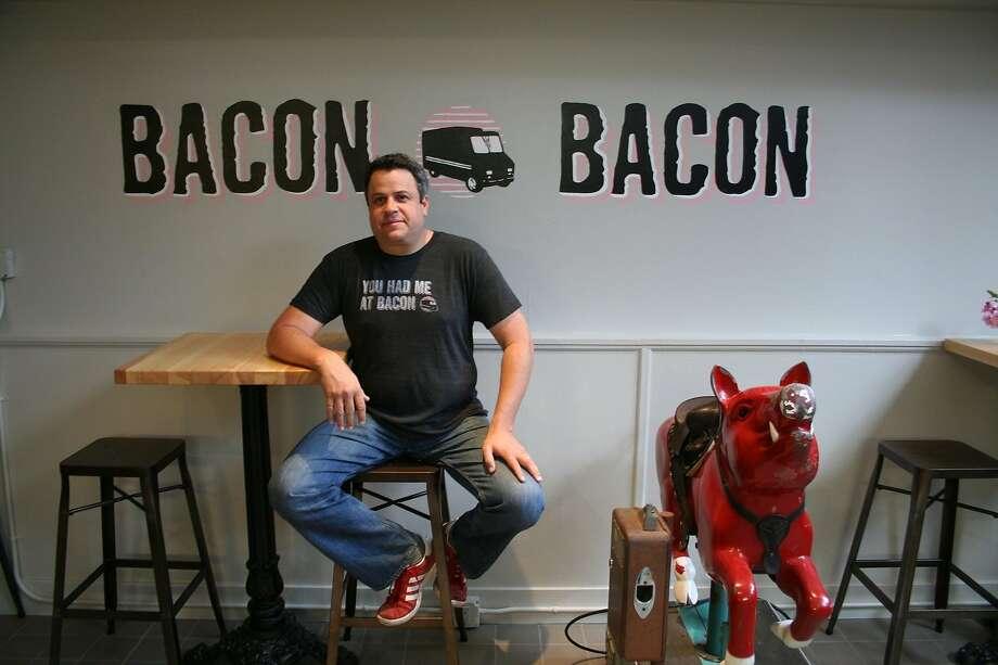 Jim Angelus at his new cafe. Photo: Sean Vahey