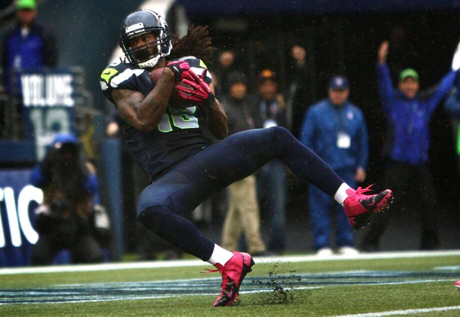 Sidney Rice#18, 2011-present  While Seahawks fans may have been disappointed with Rice's production and injury woes as one of the highest-paid receivers in the NFL, Rice has made his mark on the Seattle franchise. In 2012, he led the Seahawks with 748 receiving yards and tied with Golden Tate for the most touchdowns at seven. Sidelined for the second half of Seattle's championship 2013 season, Rice was cut in February but re-signed with Seattle for a one-year deal for 2014. Photo: Joshua Trujillo, Seattlepi.com