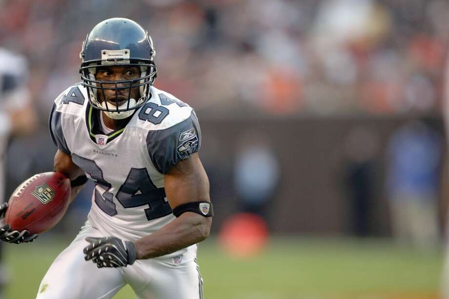 Bobby Engram#84, 2001-2008A mainstay on the Seahawks roster through their run in the mid-2000s, Engram wasn't a superstar but pulled his weight as a dependable receiver. In 2005, when the Seahawks went to their first Super Bowl, he lead the team in catches with 67. And he holds the single-season Seattle franchise record of 94 catches, set in 2007, his only season with 1,000 or more receiving yards. Photo: Jonathan Daniel, Getty Images