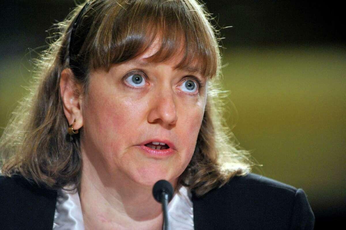 Elizabeth Birnbaum, testifying in August 2010, resigned under pressure from her Minerals Management Service post.