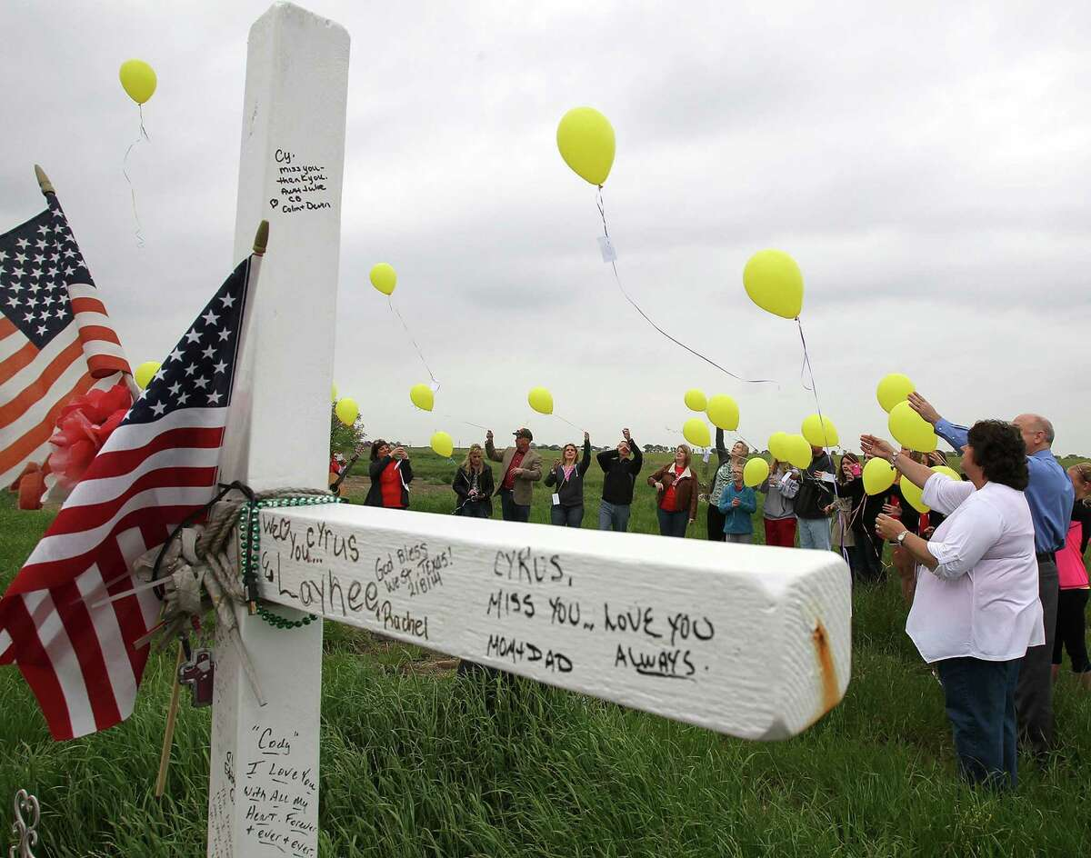 Balloons released Thursday carry memories of the victims of the West Fertilizer Plant explosion on April 17, 2013.