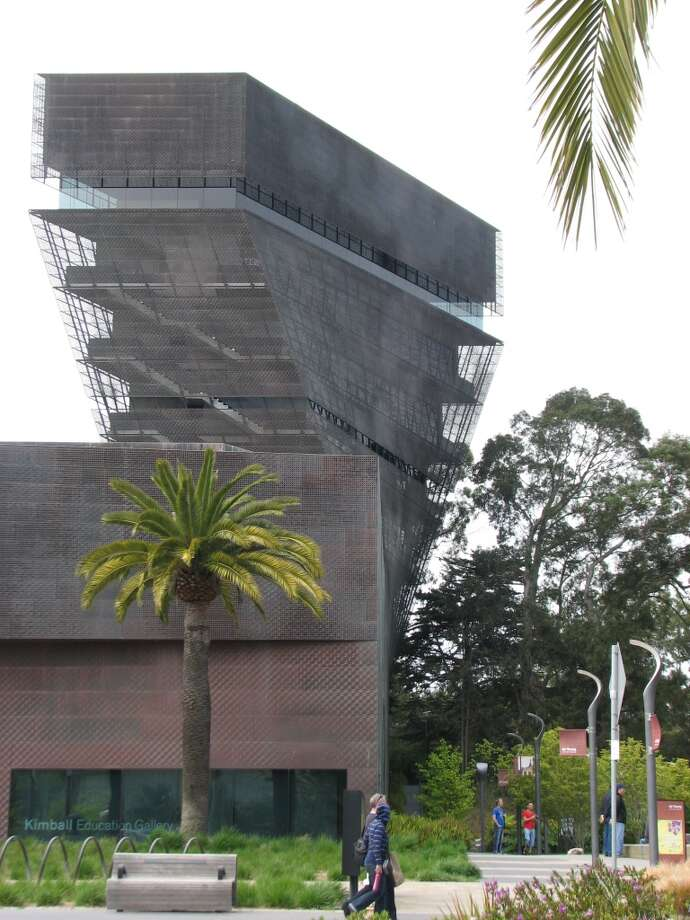 One reason to hire starchitects is that they push for design breakthroughs no local design would be brave enough to suggest. Such as the tower at Herzog & de Meuron's De Young Museum. The Swiss Pritzker-winners saw the potential of a glassed-in viewing terrace in Golden Gate Park, and they got their way despite outcries and a lawsuit. Now, the austere aerie is a valued (free!) perch, wrapped in  copper skin finally showing hints of the green patina that will help it fade into the landscape. Photo: John King