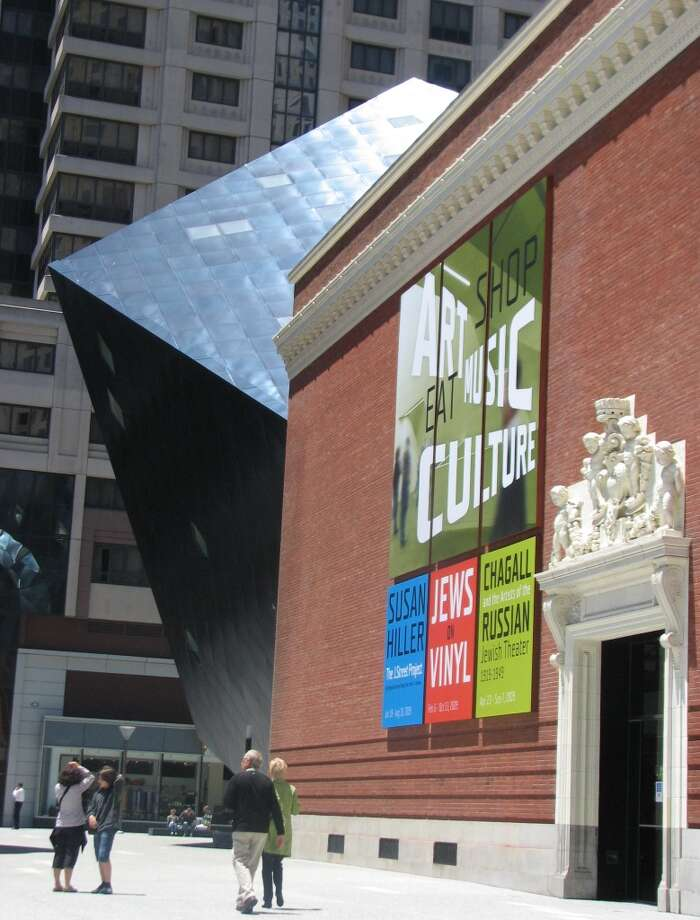 Architectural reputations rise and fall, and Daniel Libeskind no longer is the revered theorist and winner of the competition to design the replacement for the World Trade Center.  But 2007's Contemporary Jewish Museum shows the sense of urban drama that is Libeskind's strong point: behind the walls of a 1907 substation a blue-steel cube rears up and somehow, it works. Photo: John King