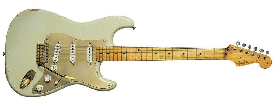 Jimi Hendrix set his on fire. Buddy Holly made it swing. Stevie Ray Vaughn made it snarl.Some of the most legendary guitarists in music history have elicited unforgettable sounds from the Fender Stratocaster, the distinctive double-cutaway guitar born in a small Fullerton, Calif., workshop 60 years ago this month.Pictured above is the very first Strat: a 1954 Fender Stratocaster, serial number 0001, owned by David Gilmour of Pink Floyd.  Take a look at some of the most famous (and infamous) guitarists who have embraces the American cultural icon. MORE: See how Stratocasters are made Photo: Nigel Osbourne, Getty Images / 2010 Nigel Osbourne