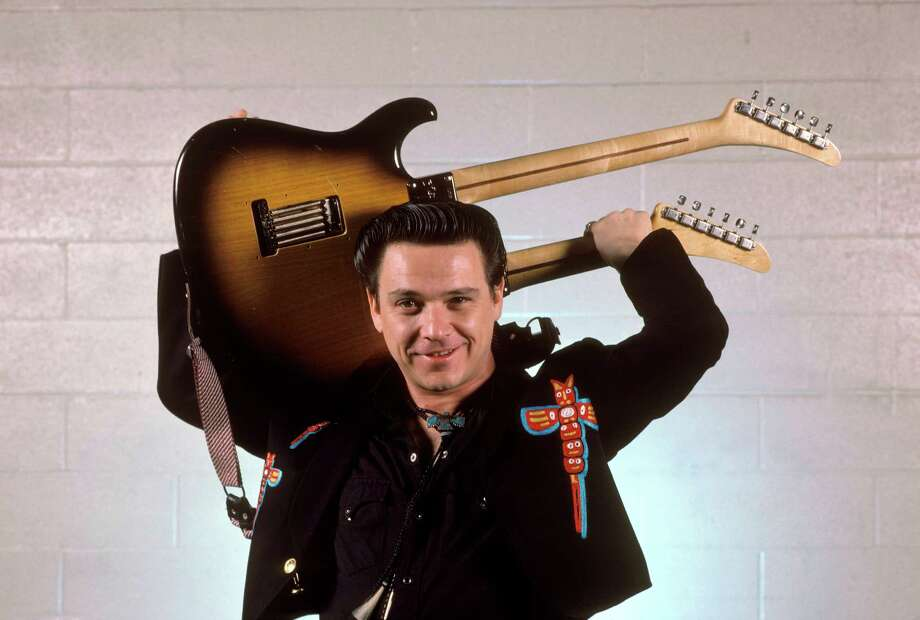 Jimmie Vaughan, the Fabulous Thunderbirds (seen here with a double-necked Strat) Photo: Ebet Roberts, Getty Images / Redferns