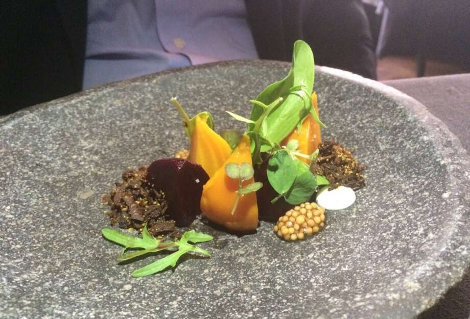 Sons & Daughters: The only repeat on their seven course menu; beet salad with vadouvan and mustard seeds (menu is $98)