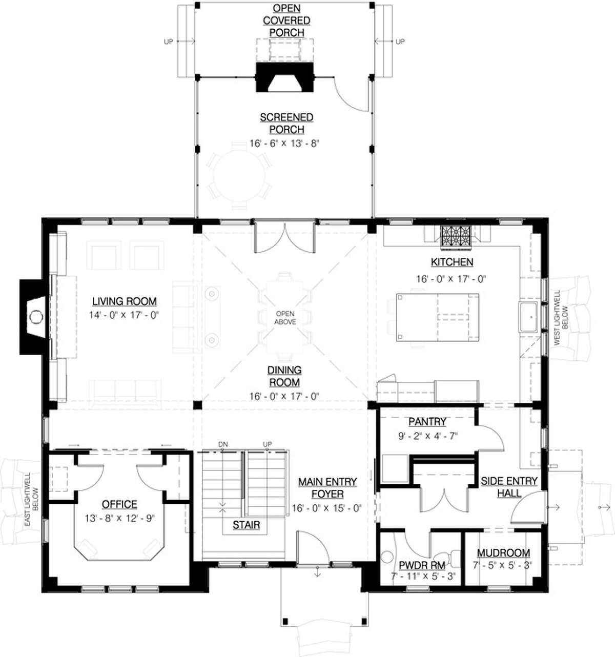 A floorplan of what the house will look like when it's finished this month.