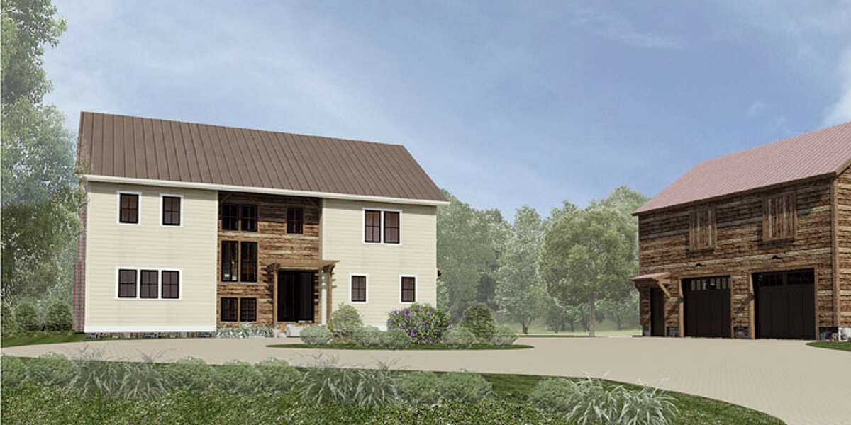 A rendering of what the house will look like when it's finished this month. (Courtesy Balzer + Tuck Architecture)
