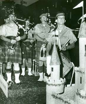 Fiesta 1968 The Balmoral Highlanders perform in the Texas Cavaliers' River Parade. Photo: Express-News, File