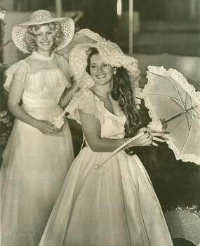 Fiesta 1978 - Virginia Bair, Ms. Ft. Sam Houston, rides in the Texas Cavaliers' River Parade. Photo: Express-News, File