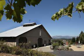 Healdsburg's Dry Creek Road is home to numerous tasting rooms with outdoor seating for visitors to sip and snack on packed lunches. (Everett Ridge  Winery is pictured here.)