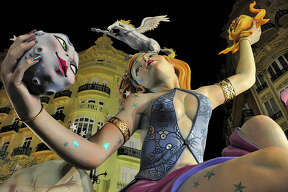 Las Fallas De Valencia When: March 13th-19thWhere: Valencia, Spain From March 13th to the 19th, Valencia celebrates one of Spain's best known festivals: Las Fallas. The Fallas are massive models made out of paper mache, wood and wax, often as caricatures meant to parody the political and social affairs of the country.