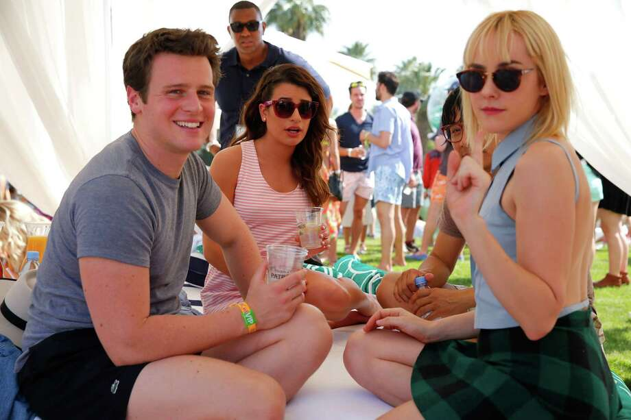 Jonathan Groff, Lea Michele and Jena Malone Photo: Joe Scarnici, Getty Images For LACOSTE / 2014 Getty Images