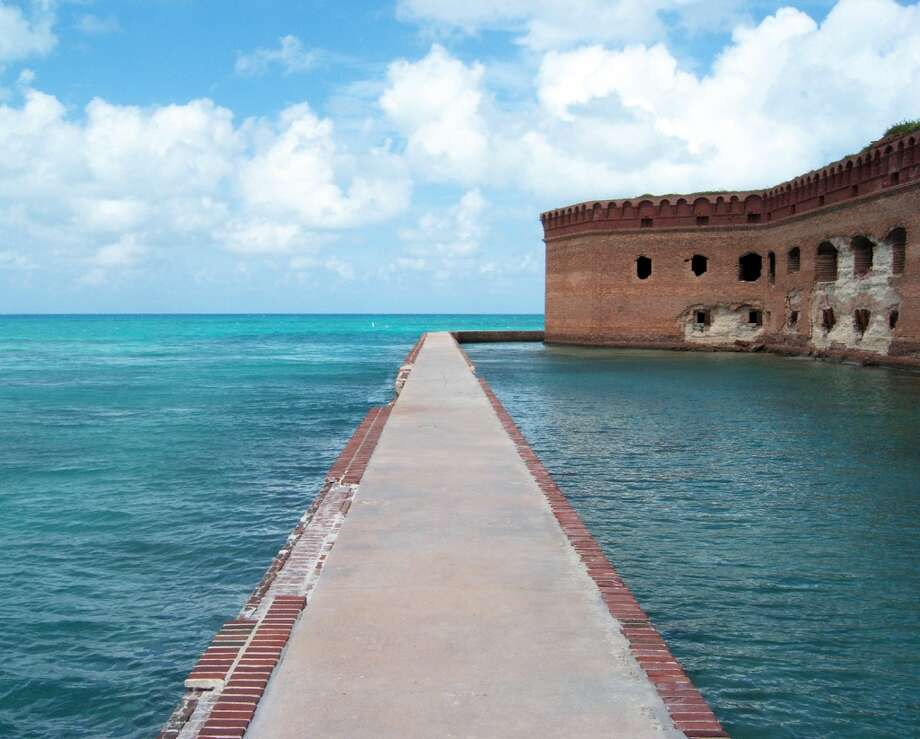 The crystal-clear waters of Dry Tortugas National Park (Florida), located 70 miles west of Key West, teem with marine life. Photo: Laura McElroy