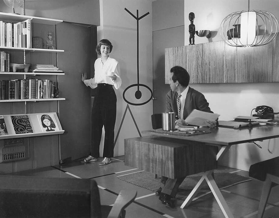 """""""Elaine and Alvin Lustig, Sunset Office, 1949"""" is from the collection of Elaine Lustig Cohen, Alvin's wife and fellow graphic designer. Photo: Contemporary Jewish Museum"""