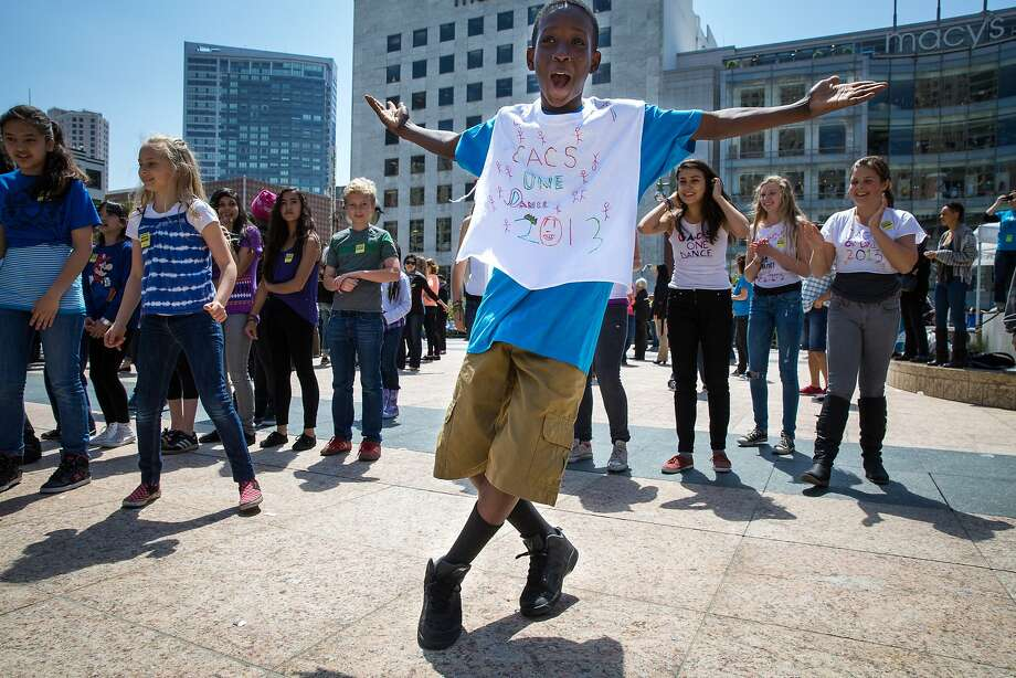 Young dancers had lots of fun at last year's Bay Area Dance Week in Union Square. Photo: Kegan Marling