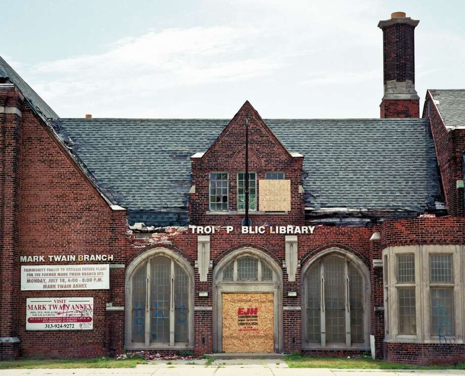 "Destroyed Mark Twain Branch Library, Detroit Photo: Photo From ""The Public Library"""