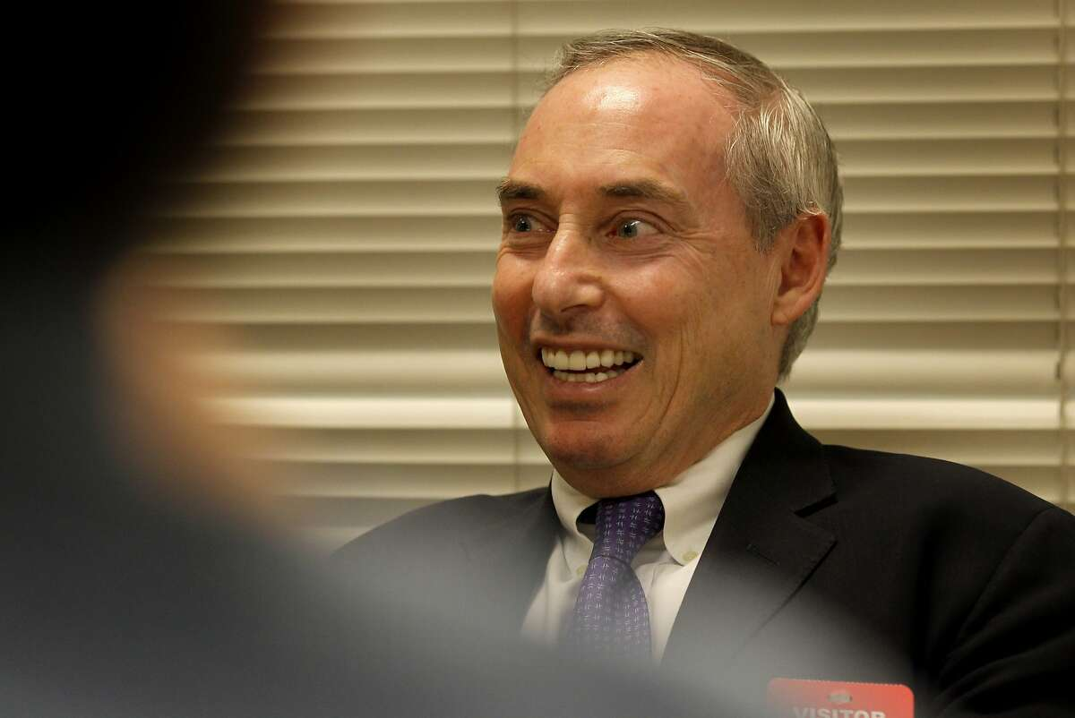 Dan Schnur smiled at a question by the San Francisco Chronicle editorial board Wednesday March 12, 2014. Dan Schnur, candidate for California Secretary of State, is running as an independent.