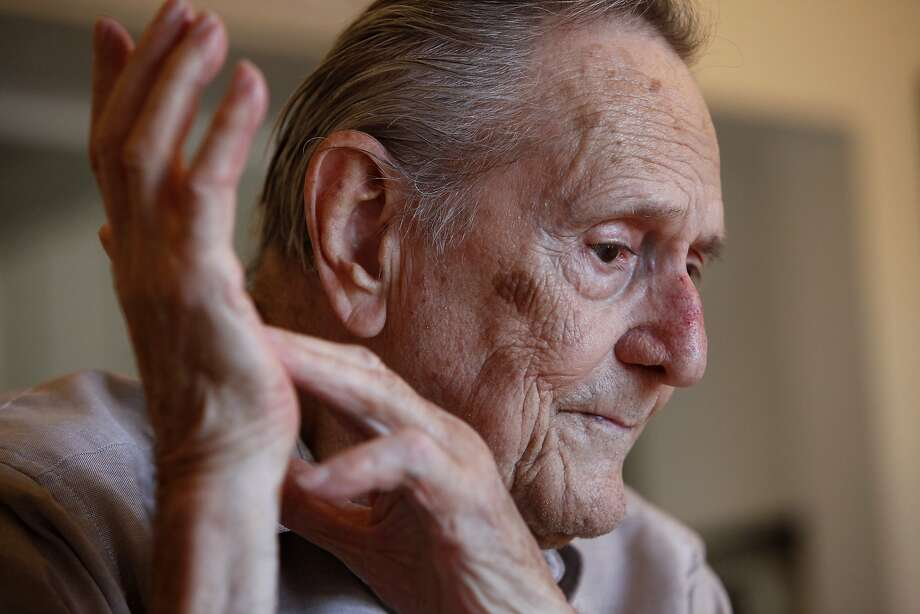Ed Ricketts Jr., whose father was the famous marine biologist who lived on cannery row and was the best friend of John Steinbeck, talks during an interview at his home in Mill Valley, CA, Tuesday April 15, 2014. Photo: Michael Short, The Chronicle