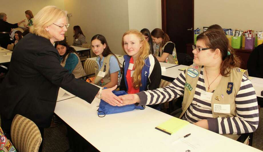 Girl Scouts of Connecticut teamed up recently with Merrill Lynch Wealth Management, part of Bank of America, for a financial empowerment workshop. Photo: Contributed Photo / Connecticut Post Contributed