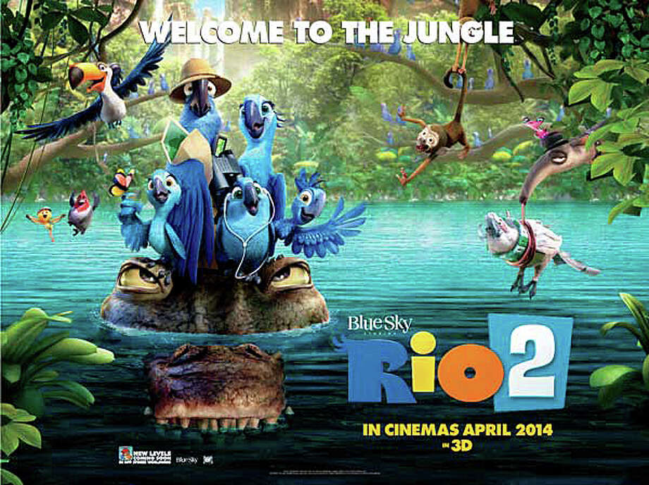 "'Rio 2"" is an animated film, second in a series, featuring a host of stars' voices in the roles of the featured birds and jungle friends. Photo: Contributed Photo / Westport News"