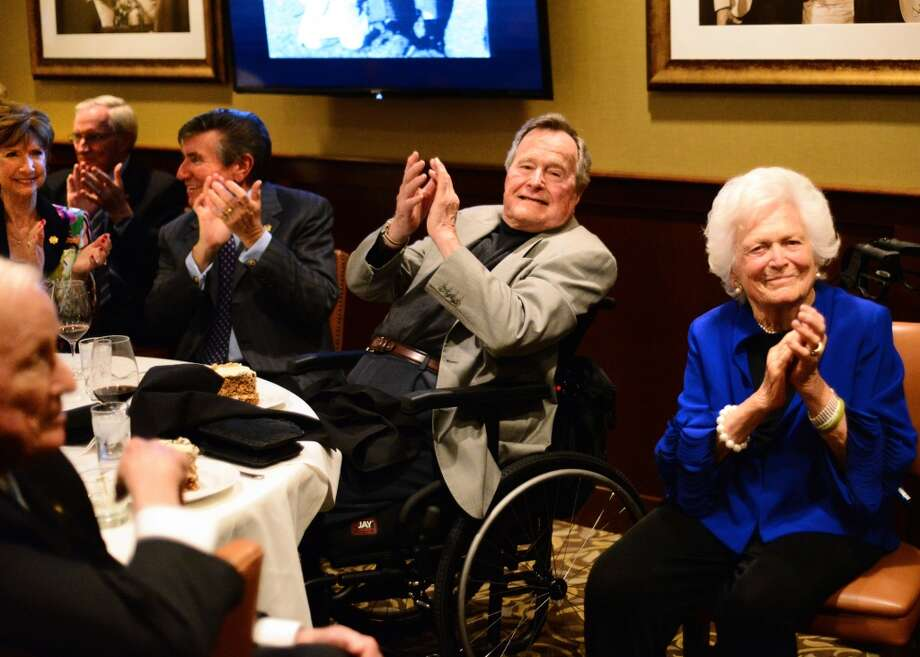 President George H. W. Bush at his pre-birthday bash with Barbara Bush and Wally Ganzi. Photo: Al Torres Photography