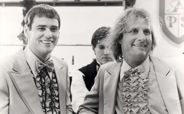 Dumb & Dumber (1994)   Dumb And Dumberer: When Harry Met Lloyd (2003) Available on Hulu July 1    Photo: New Line Cinema